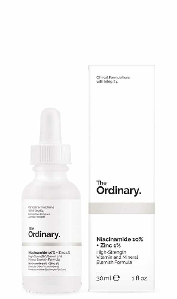 The Ordinary Niacinamide 10% + Zinc 1% after dermarolling for oily skin