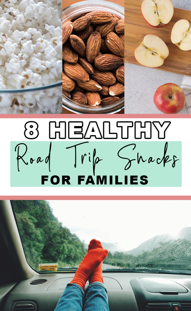 Headed on a Long Road Trip? Pick up these 8 healthy road trip snacks that kids and adults will love.