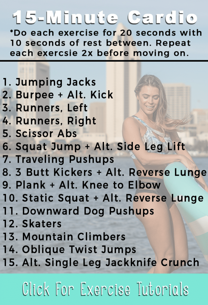 15 Minute At-Home Cardio workout to target the whole body