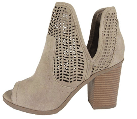 Peep Toe Booties from Amazon: Spring Fashion