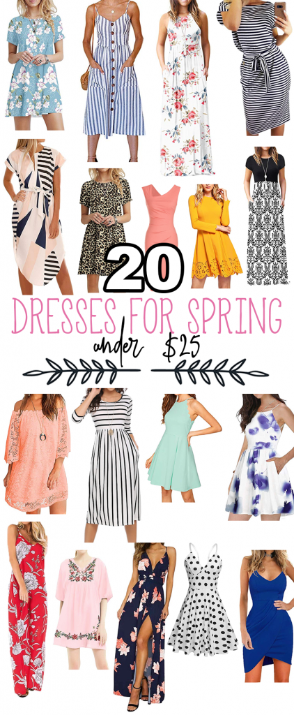 Update Your Spring Wardrobe with Amazon! Here are 20 dresses under $25, with at least 4-star ratings.