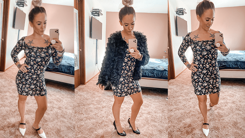 Spring Floral Dress from Shein