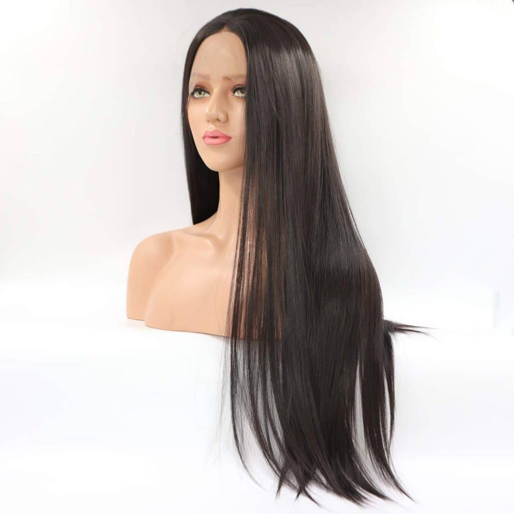 """Lucyhair dark brown 24"""" lace-front with from Amazon"""