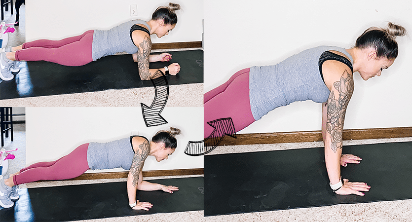 How to Do Plank to Push Up
