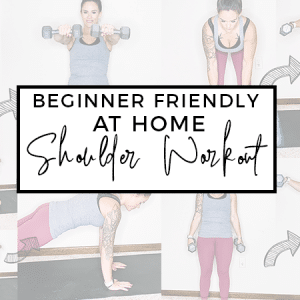 Beginner Friendly At Home Shoulder Workout