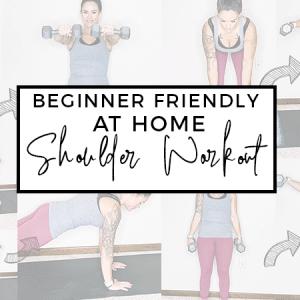 Beginner Friendly At Home Shoulder Workout