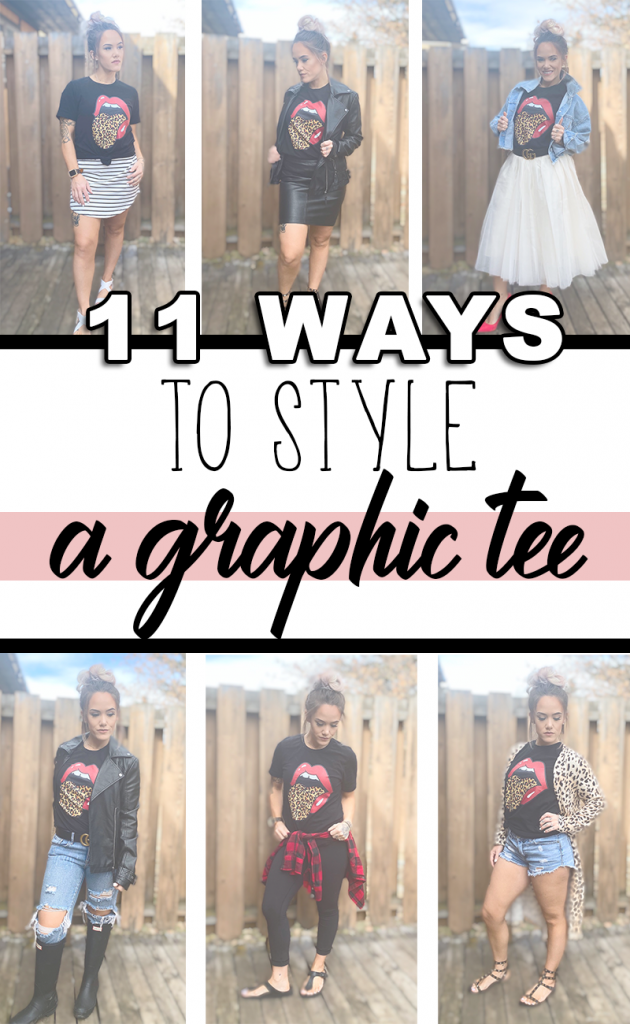 Style your favorite graphic tee for any occasion