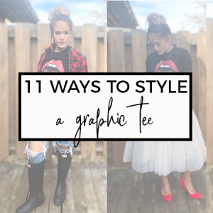 How to Style a Graphic Tee: 11 Ways
