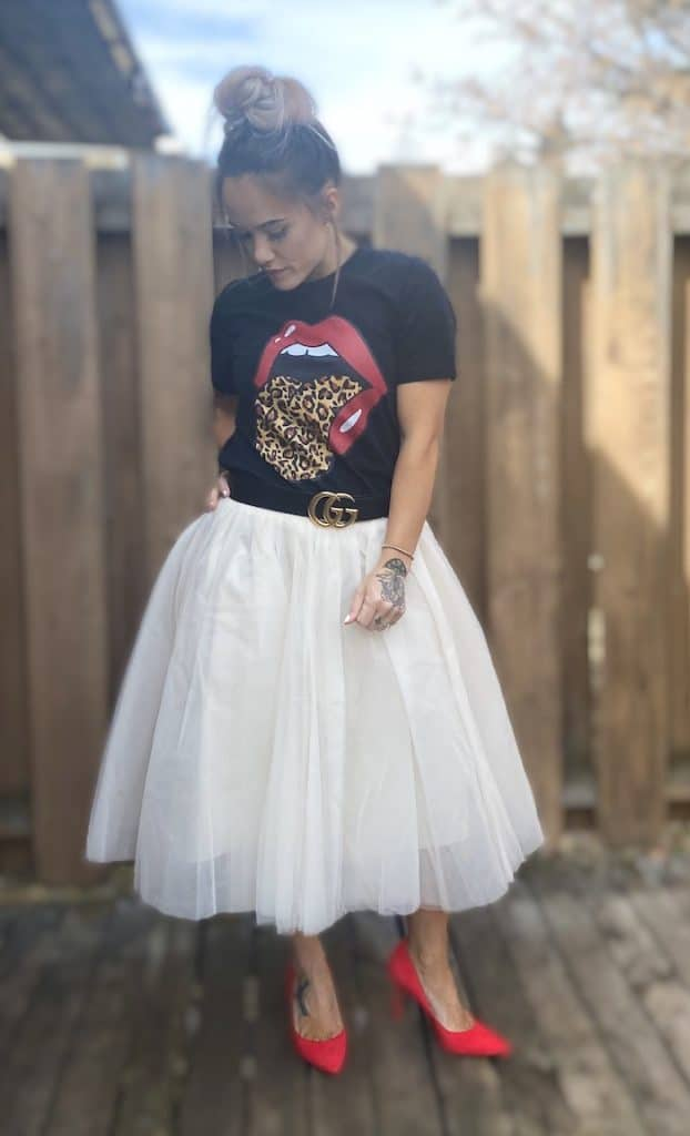 Tulle Skirt and Graphic Tee from Amazon
