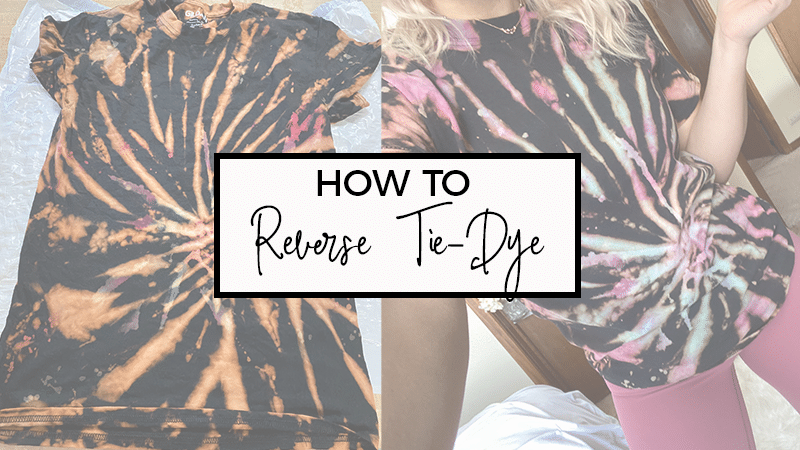 How to Reverse Tie-Dye a T-Shirt at Home with Bleach
