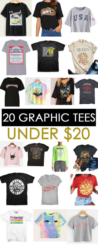20 Graphic Tees all Under $20