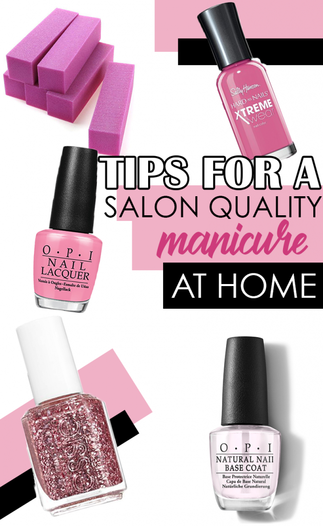 Get a Professional, long lasting manicure at home with these tips. No gel polish or UV light required