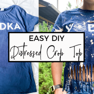 DIY Distressed Crop Top