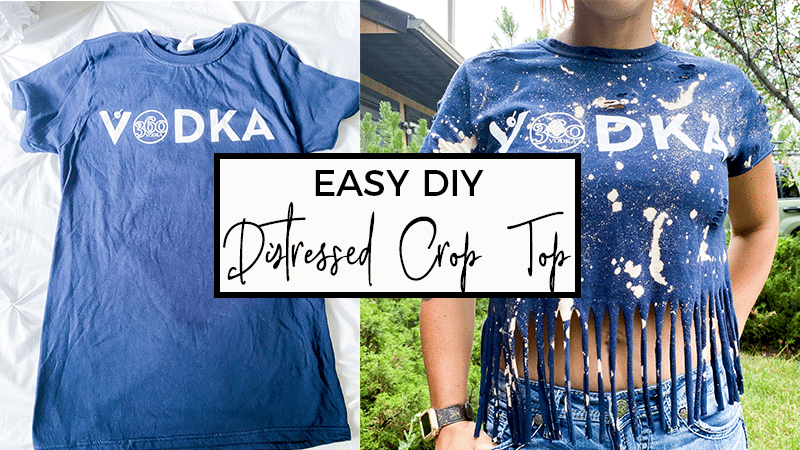 How to DIY Distressed Crop Top at Home